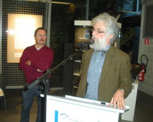 Gent, maandag 13 april 2015. Onder grote belangstelling gaven François en Alain Bloch een boeiende LEZING over de FAMILIE BLOCH en speciaal haar aanwezigheid te Gent.