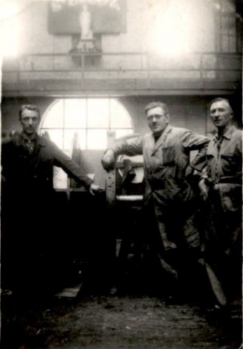 Afdeling chefs Louis Housiaux, Henri Waldack en Maurice Verheecke - 1935