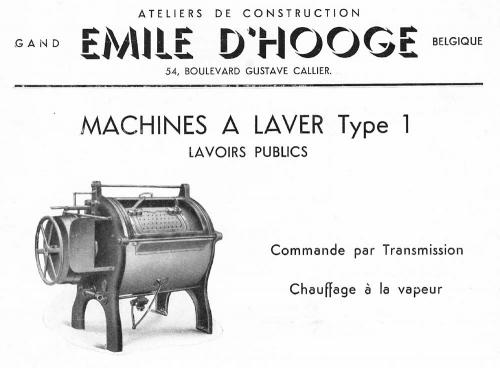 Wasmachine nr 1 (nummering vanaf 1930) - gebouwd te Ledeberg